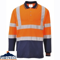 Portwest Two-Tone Long Sleeved Polo - S279