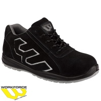 WorkForce Black/Grey SBP Suede Safety Trainer - WF31P
