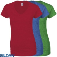 Gildan Softstyle™ Womans  V-Neck T-Shirt - GD078
