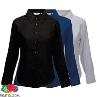 Fruit of the Loom Ladies Long Sleeve Oxford Shirt - SS001