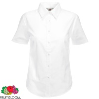 Fruit of the Loom Ladies Short Sleeve Oxford Shirt - SS003