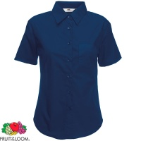 Fruit of the Loom Ladies Short Sleeve Poplin Shirt - SS014