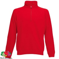 Fruit of the Loom Premium Zip Neck Sweatshirt - SS830